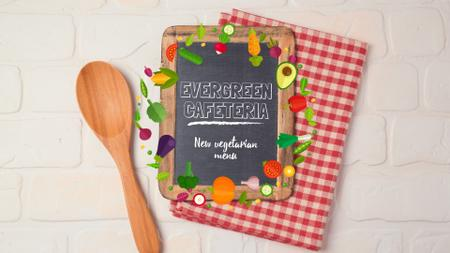 Vegetable Menu Frame with Chalkboard Full HD video Tasarım Şablonu