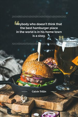 Template di design Special Fast Food Offer with burger and beer Tumblr