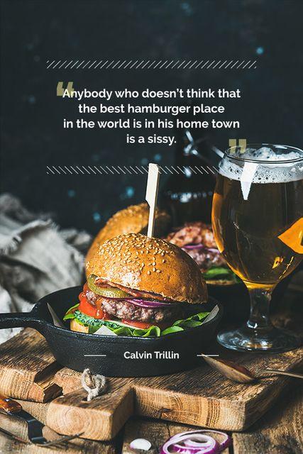 Special Fast Food Offer with burger and beer Tumblr Tasarım Şablonu