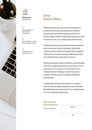 Business company official offer Letterhead Modelo de Design