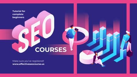 Business Courses SEO Tools Concept FB event cover Modelo de Design