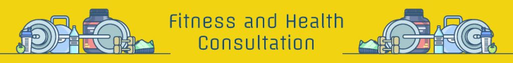 Fitness and health consultation banner — Crea un design