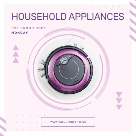 Plantilla de diseño de Special Offer of Robot Vacuum Cleaner Animated Post