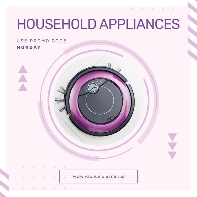 Special Offer of Robot Vacuum Cleaner Animated Post – шаблон для дизайна