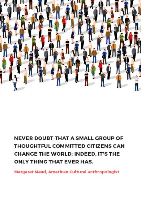 Modèle de visuel Changes inspirational quote with crowd of people - Flayer