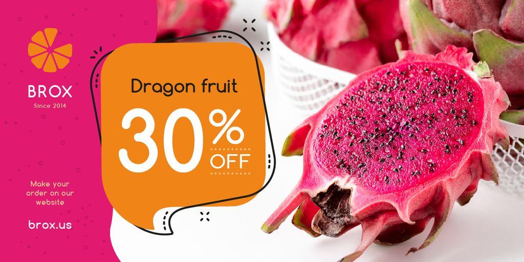Exotic Fruits Offer Red Dragon Fruit — Maak een ontwerp