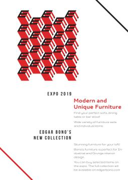 Furniture collection geometric poster