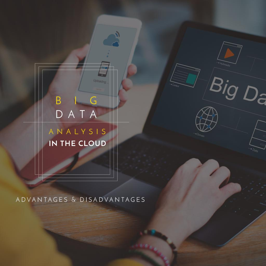 advantages and disadvantages of analysis in the cloud poster — Create a Design