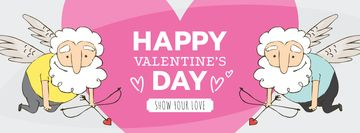 Valentine's Day Greeting Funny Elder Cupids | Facebook Cover Template
