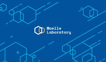 Science Laboratory Ad Molecule Icon in Blue
