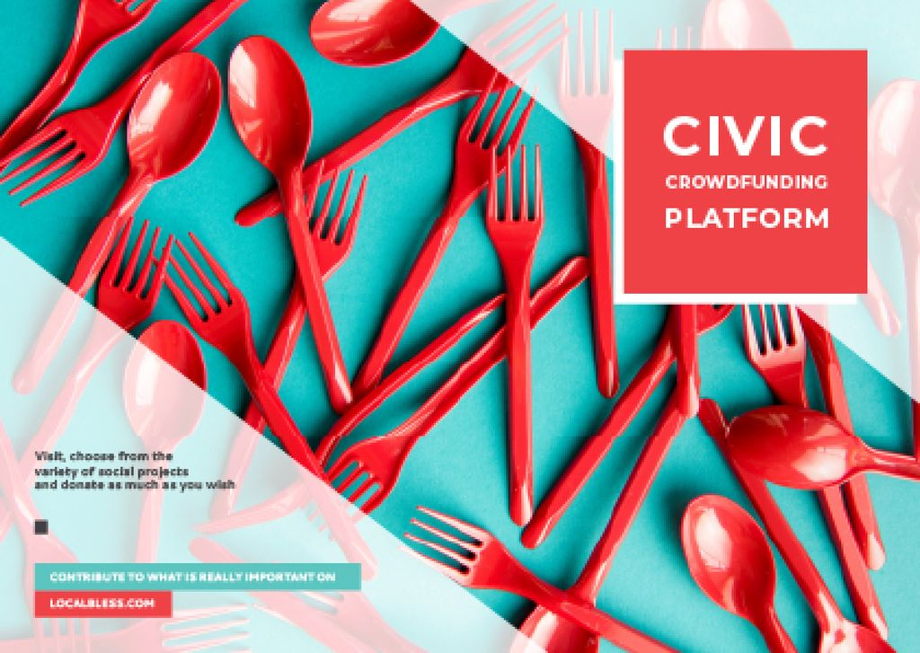 Crowdfunding Platform Red Plastic Tableware — Створити дизайн