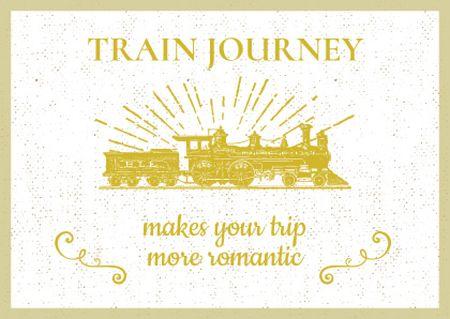 Plantilla de diseño de Citation about Train journey Card