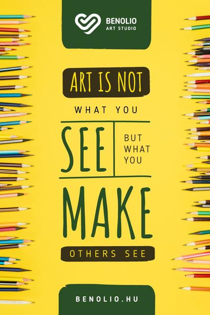Art Supplies Sale with Colorful Pencils Pinterest – шаблон для дизайну