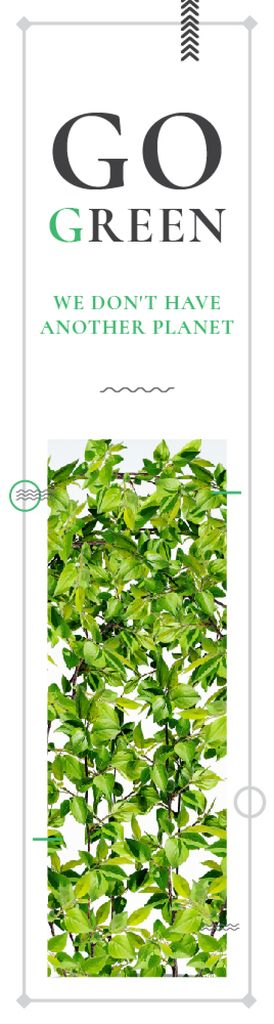 Ecological Event Announcement Green Leaves Frame — Создать дизайн