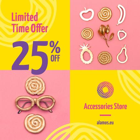 Shiny Female Accessories Sale Announcement Instagram Modelo de Design