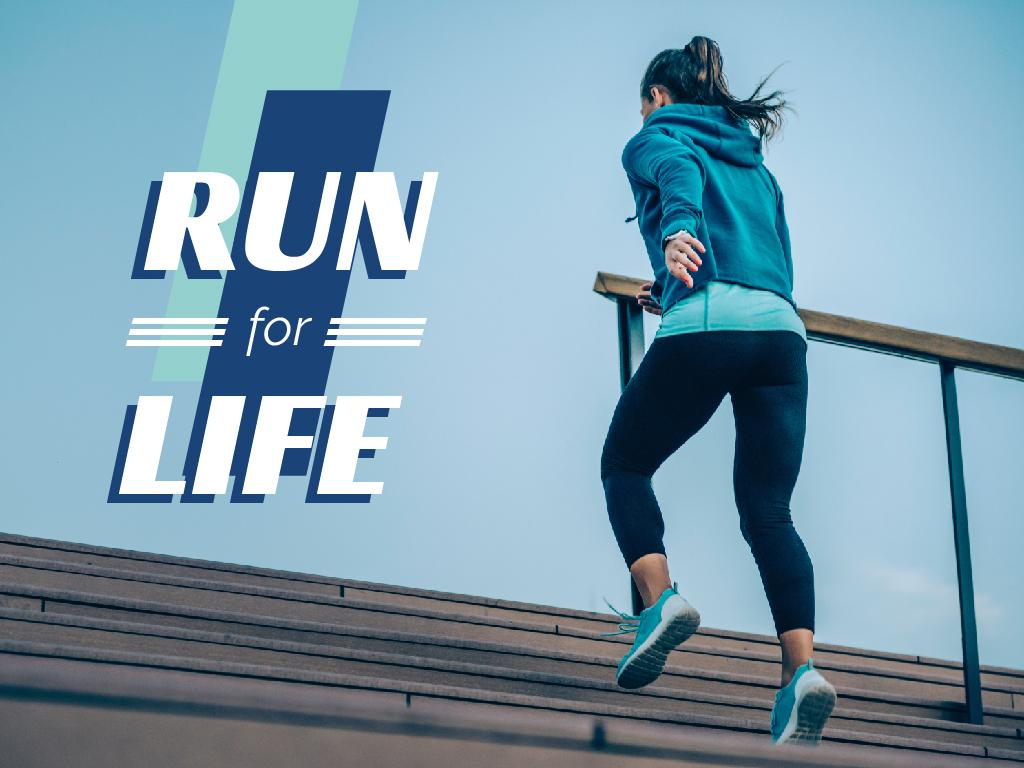 Motivational Citation with Running Woman — Crear un diseño