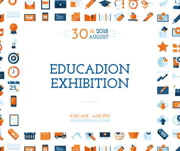 Education Exhibition Bright Sciences Icons