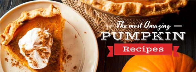 Pumpkin recipes with Delicious Cake Facebook cover Tasarım Şablonu