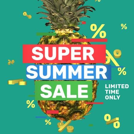 Plantilla de diseño de Special Sale with Rotating raw Pineapple Animated Post