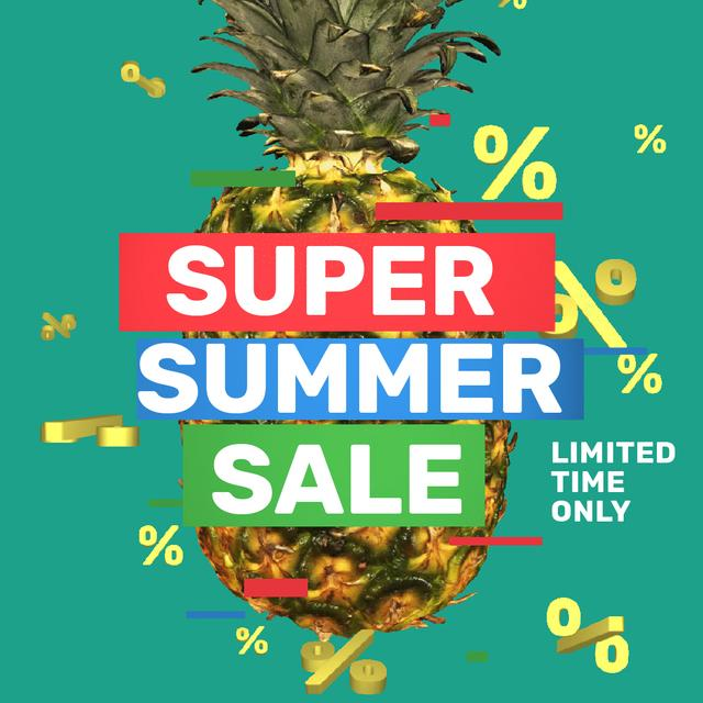 Modèle de visuel Special Sale with Rotating raw Pineapple - Animated Post