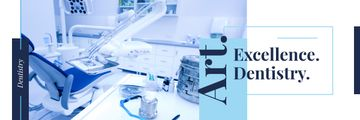Dentistry Advertisement Office Interior in Blue | Email Header Template