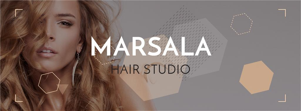 Marsala hair studio banner — Create a Design