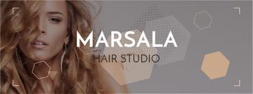 Hair studio Offer with Girl in earrings