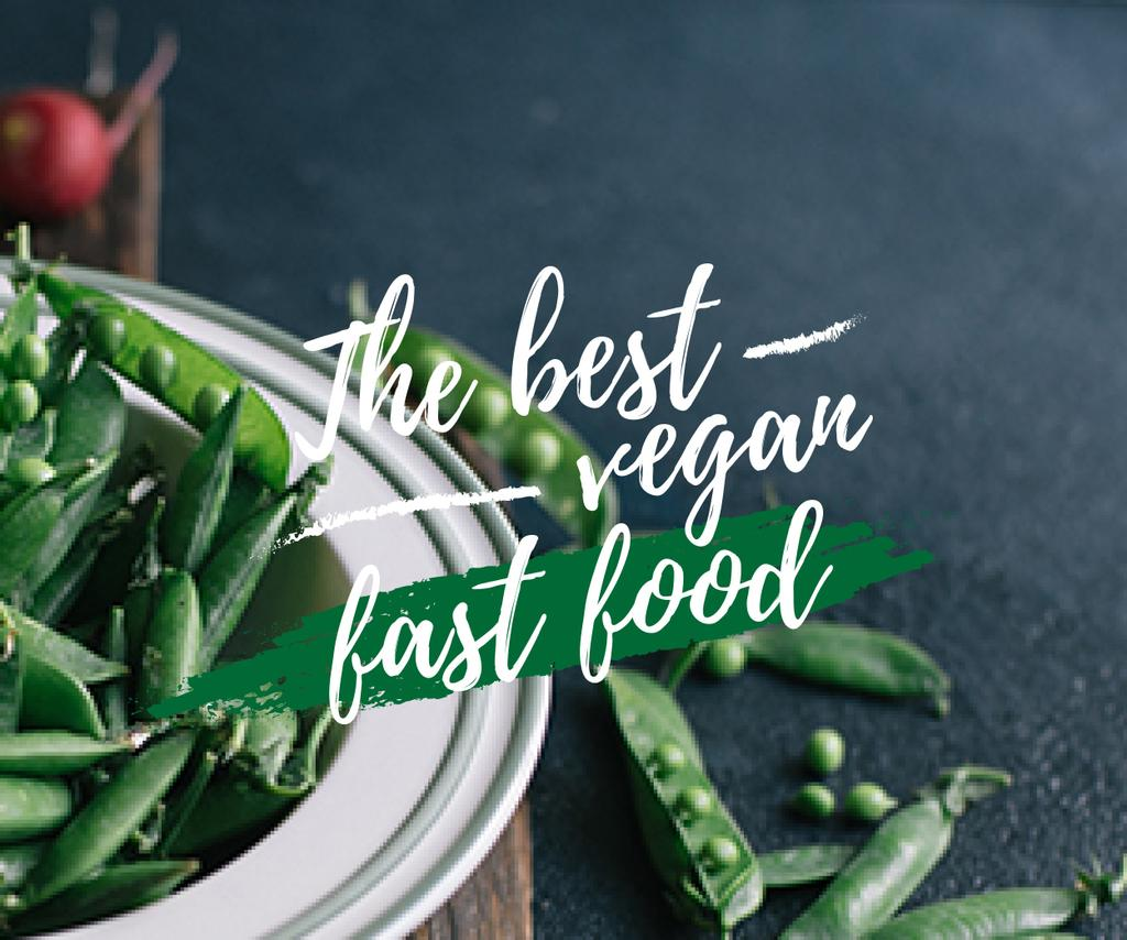 The best vegan fast food with peas poster — Crear un diseño