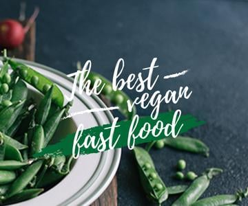The best vegan fast food with peas poster