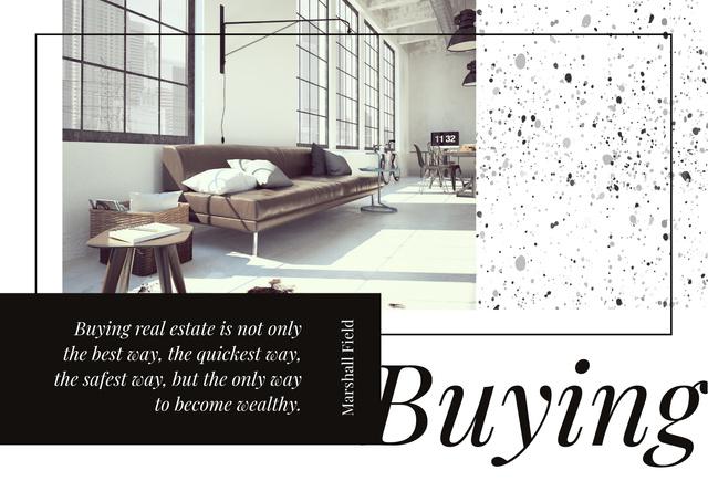 Designvorlage Modern Living Room Interior für Postcard