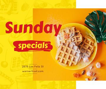 Sweet Belgian waffles offer
