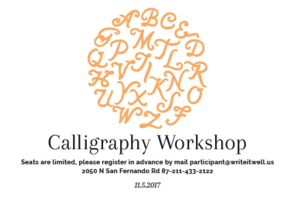 Calligraphy workshop Annoucement — Modelo de projeto
