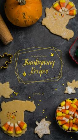 Cooking Thanksgiving cookies and sweets Instagram Story Design Template