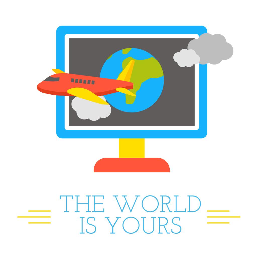 Plane takes off from Computer Screen — Modelo de projeto