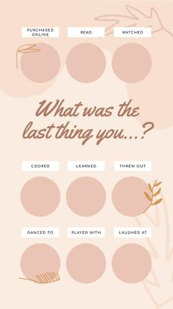 Template di design Profile about last thing Instagram Story