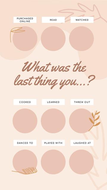 Ontwerpsjabloon van Instagram Story van Profile about last thing