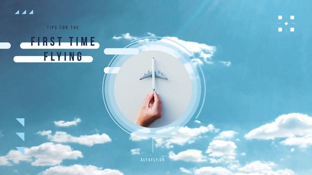 Flying Tips Hand with Toy Plane Full HD video Tasarım Şablonu