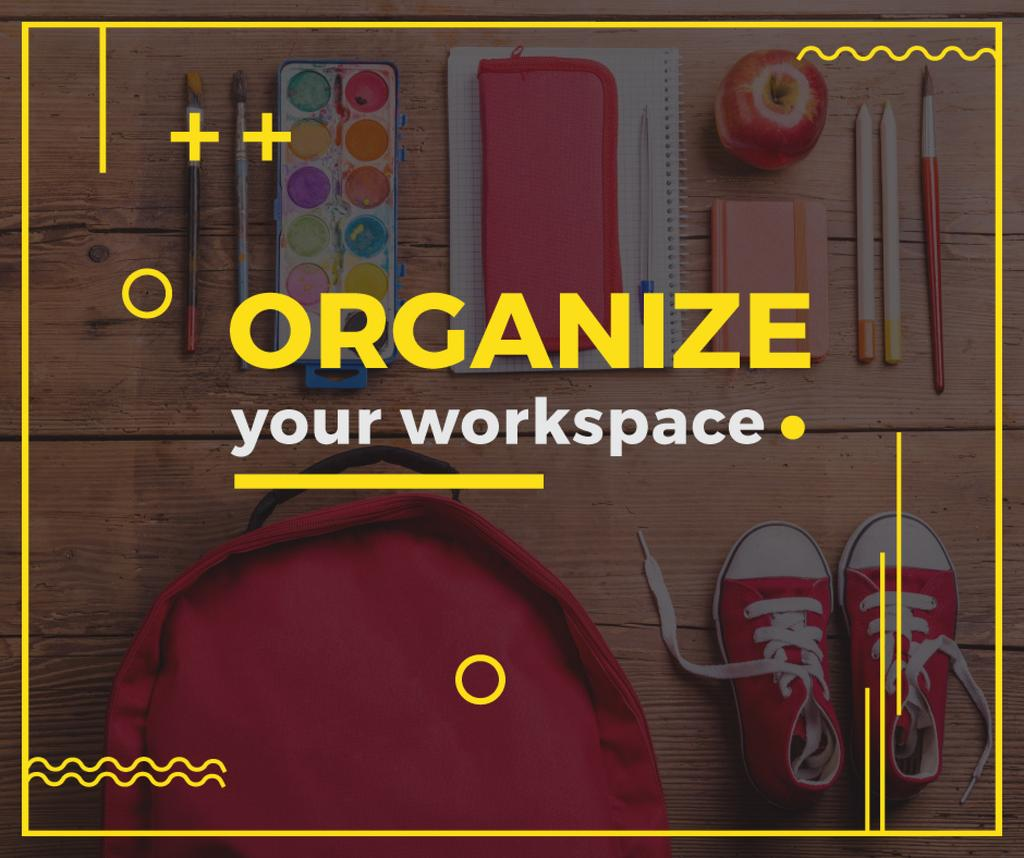 Organize your workspace poster for school child — Maak een ontwerp