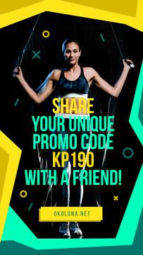 Gym Ticket Offer with Woman Jumping