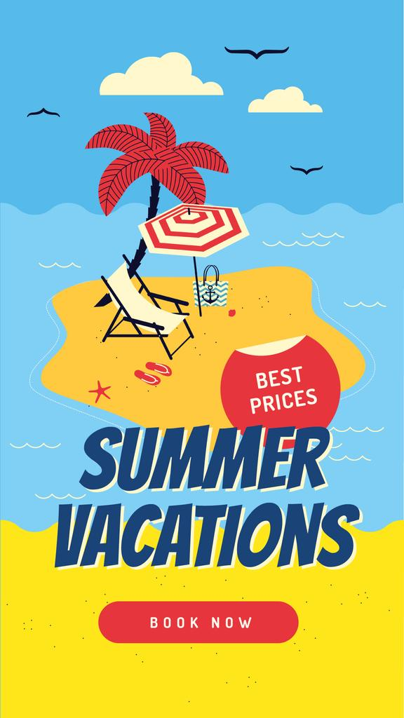 Summer vacation at the beach — Create a Design