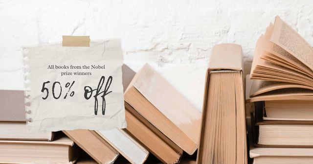 Szablon projektu Special Books Sale Offer Facebook AD
