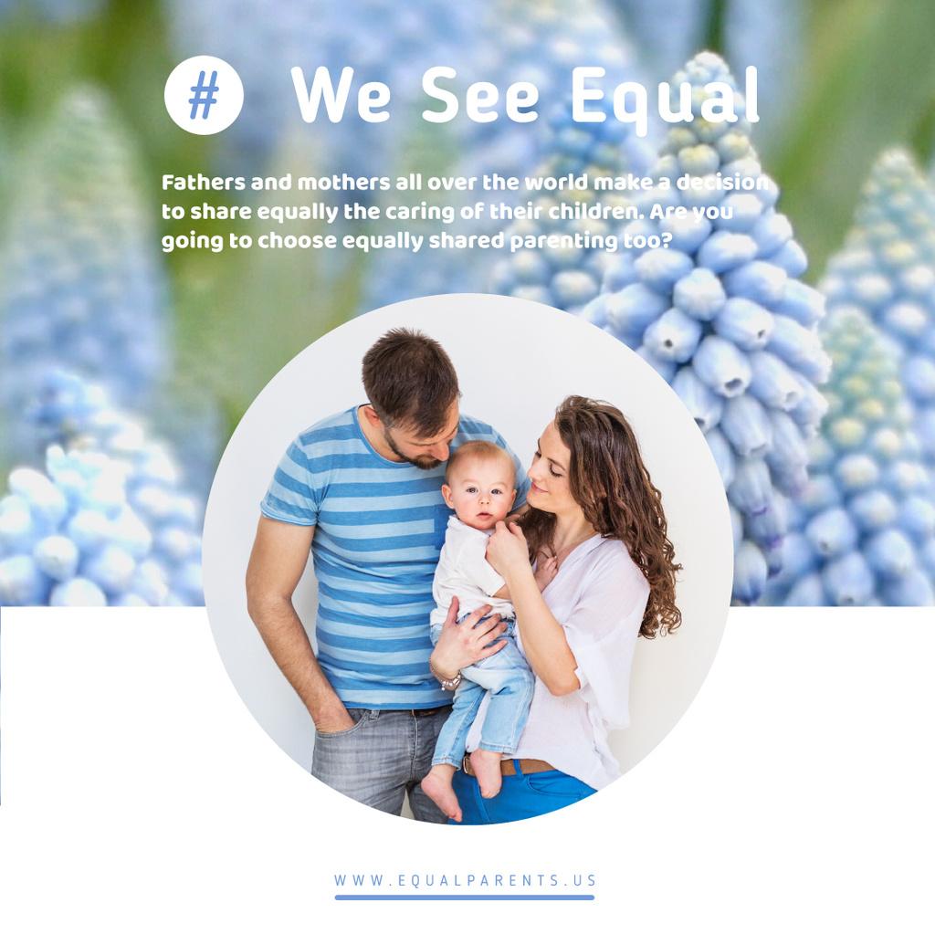 Parents with toddler baby — Créer un visuel