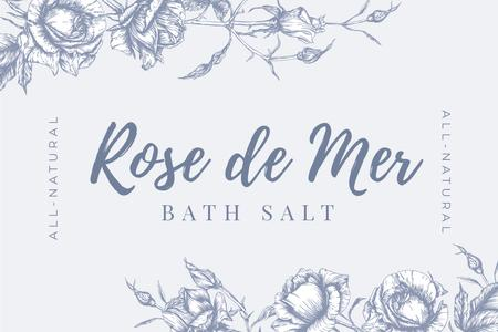 Ontwerpsjabloon van Label van Skincare Salt ad on Flowers sketch