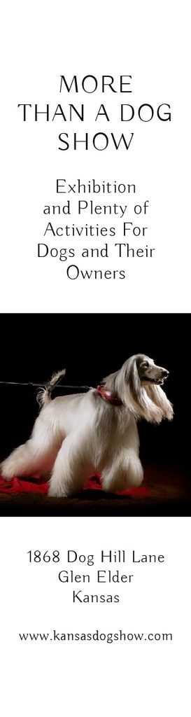 Dog show in Kansas — Modelo de projeto