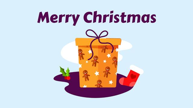 Christmas gift box Full HD videoデザインテンプレート
