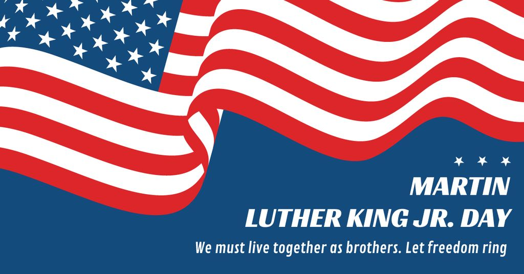 Martin Luther King day with Flag — Crear un diseño