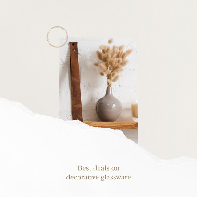 Ontwerpsjabloon van Instagram van Dried flowers in Vase for Home Decor