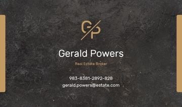 Real Estate Agent Services with Marble Black Texture