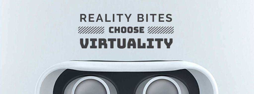 Virtual Reality Glasses in White — Crea un design