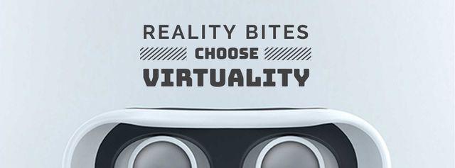 Modèle de visuel Virtual Reality Glasses in White - Facebook cover